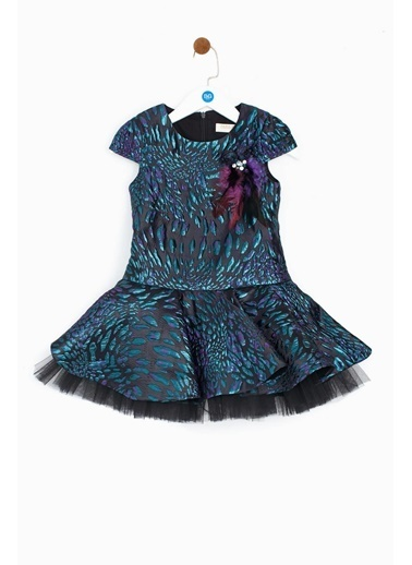 Tarsiani Kız Çocuk Mor Elbise Mor